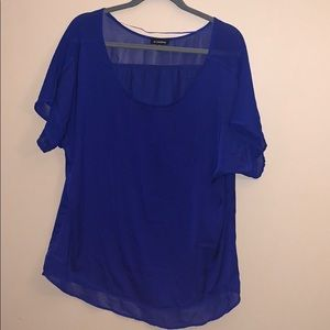 Le Chateau blue blouse XXL